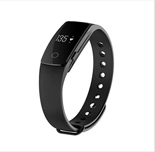 jingjing Smart Armband Herz Rate Bluetooth Smart Armband Life Wasserdicht Smart Tragen, Herren, Schwarz