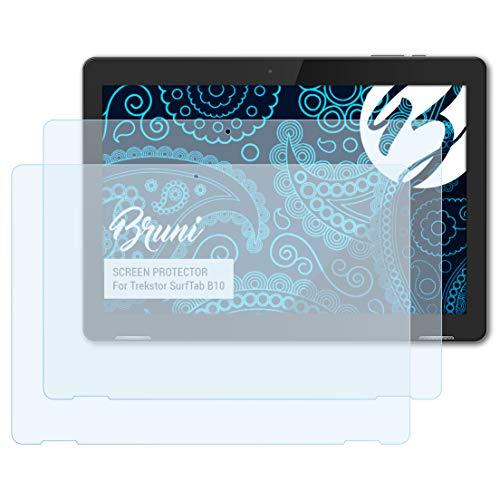 Bruni Schutzfolie kompatibel mit Trekstor SurfTab B10 Folie, glasklare Bildschirmschutzfolie (2X)