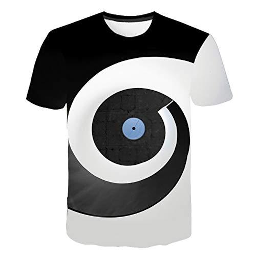 Aoogo Mens New 3D Printing Tees Shirt Kurzarm T-Shirt Large Größe Bluse Tops Herren Tank Top Mit Rundhalsausschnitt Aus 100% Baumwolle Regular Fit