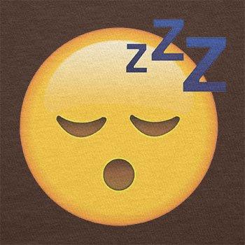 TEXLAB - Sleeping Emoji - Damen T-Shirt Braun