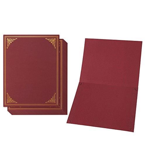 Baumwollmusselin Zertifikat Halter-Diplom, Dokument Cover für A4Ti Award ZERTIFIKATE, rot, 22x 30,8Zentimeter -
