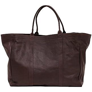 41njWLZEVwL. SS324  - Mon PARTENAIRE INDUS tamaño L Bolso de Mano de Cuero Bolso de Estilo Vintage marrón Oscuro PAUL MARIUS