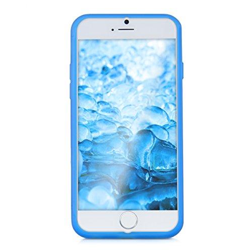 kwmobile TPU Silikon Hülle für Apple iPhone 6 / 6S - Full Body Protector Cover Komplett Schutzhülle Case in Schwarz .Hellblau Transparent