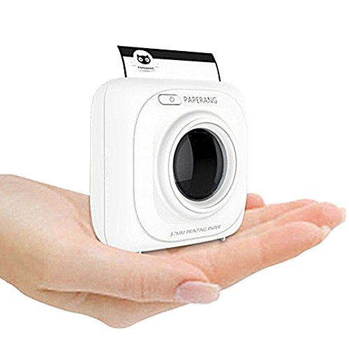 AOLVO Paperang P1 Bianco Mini Wireless Carta Fotografica per Stampante Stampante Portatile Bluetooth istantaneo Mobile per iPhone/iPad/Mac/Android dispositivi con Stampa Documenti