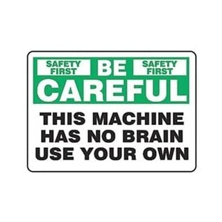 Caution Sign, 10 x 14In, GRN and BK/WHT, AL by Accuform
