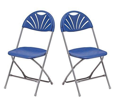 Bistro-klappstühle (2x Klappstuhl Gartenstuhl Campingstuhl Gastronomie Bistro Stuhl Stühle blau)