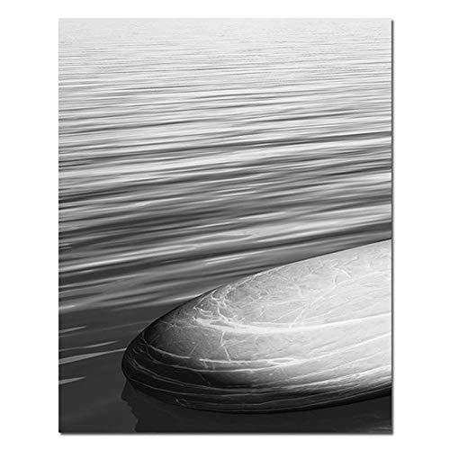 MJGW Leinwanddrucke Zen Stein Buddhismus Wand Kunst Leinwand Poster Meditation Druck Abstrakte Malerei Minimalistischen Nordic Dekoration Bild Home Decor