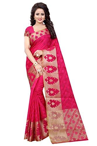 Vatsla Enterprise Women's Cotton Silk Saree With Blouse Piece (Vduihan007Gajari_Gajari)