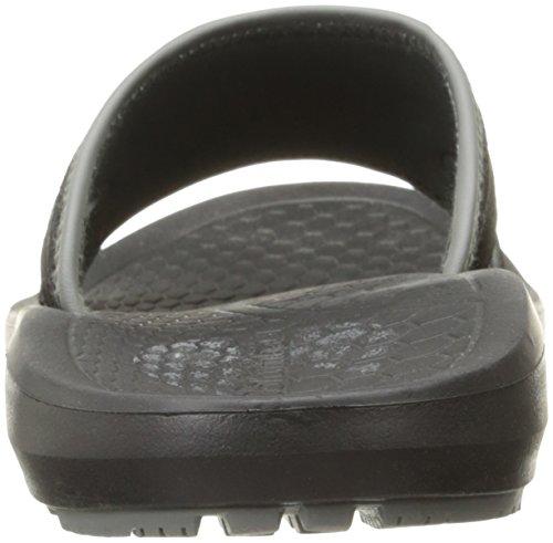 Columbia Mens Techsun Slide Athletic Sandal Black, Titanium Mhw
