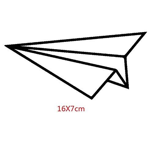 Stickers Muraux Avion En Papier Pour Autocollant De Vinyle De Kayak De Porte Automatique D'Ordinateur Portable De Porte De Pare-Chocs De Fenêtre De Camion 16 X 7 Cm