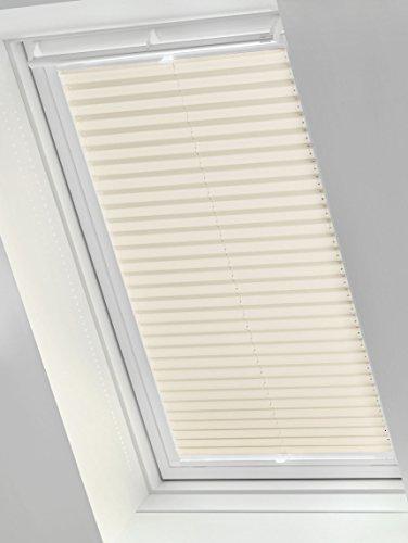 Gardinia 33789 Easyfix Dachfenster-Plissee, Stoff, creme, M06