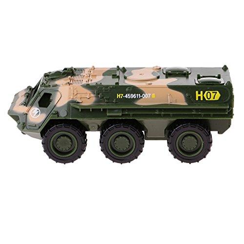 Homyl 1:64 Diecast Armee Fahrzeug Panzer/ Krankenwagen/ Panzerwagen/ Hubschrauber/ Buggy/ LKW Kinder Spielzeug ( 1 Stück ) - Panzerwagen