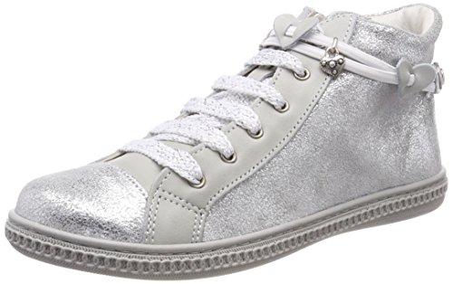 (Primigi Mädchen PST 14300 Hohe Sneaker, Silber (Argento/Nuvola 33), 35 EU)