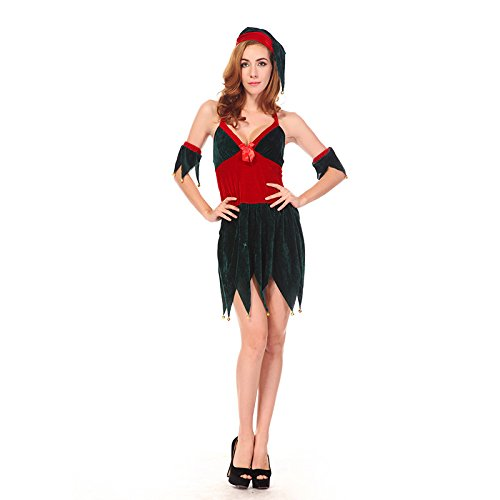 Kostüm Pyjama Tanz - LLY Sexy Angel Halloween Kostüm Cosplay Cosplay Kostüm tanzen Kleidung-Tanz-Performance-Bekleidung, red