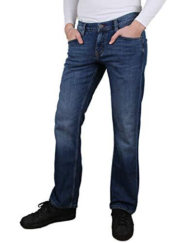 MUSTANG Herren Jeans Oregon - Bootcut - Blau - Denim Blue - Medium Blue - Mid Blue, Größe:W 36 L 30, Farbe:Medium Blue (1006280-702)
