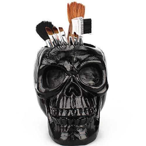 Zooarts spazzola per trucco organizer spazzola per cosmetici nero skull cosmetics