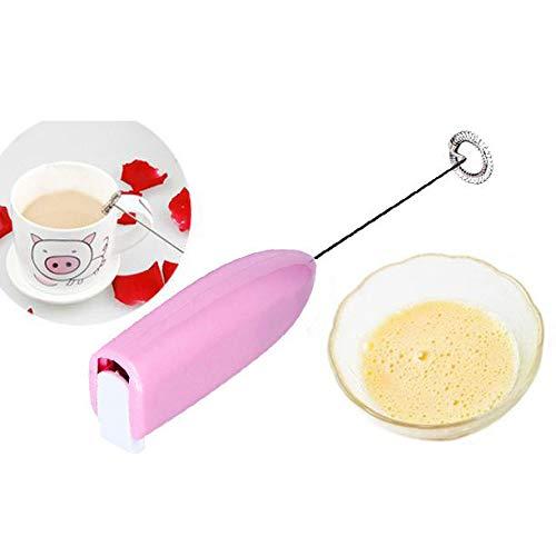 Bescita Elektrisch Schneebesen, Handheld Kaffee Mixer Mini Edelstahl Schäumer Schneebesen Tragbar Milchschaum für Latte,Cappuccino,Schokolade (Lila)