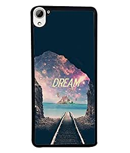Fabcase rail road dream another amazing beautiful world paradise water Designer Back Case Cover for HTC DESIRE 826