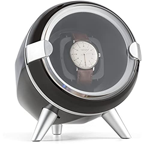 Klarstein Sindelfingen caja para relojes (compacto, motor silencioso, amplia tapa transparente, 4 programas de rotación, almohadilla de terciopelo) -