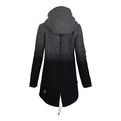 Khujo Damen Wollmantel dark-grey-melange-check