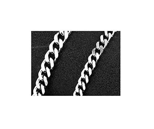 Epinki Edelstahl 4MM Halskette für Herren Silber