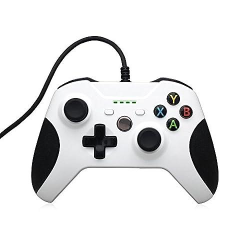 PYRUS Wired XBox One-Controller Wired Ersatz Gamepad kompatibel mit Xbox One und Windows-PC (360 Wired Controller)