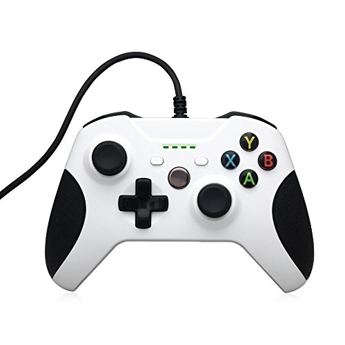 PYRUS Con conexión de cable Gamepad repuesto compatibles con conexión de cable del controlador Xbox One con Xbox One y PC con Windows