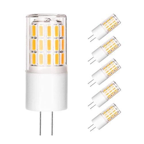 Ascher G4 LED Lampen Warmweiß - 5er Pack G4 3W LED, 45 X 4014 SMD, 280LM, Ersatz für 30W Halogenlampen, 360° Abstrahlwinkel, LED Birnen, LED Leuchtmittel AC/DC 12V