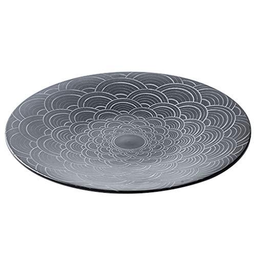 Teller Kreative Keramik Geschirr Fischplatte Vorgestellten Pizzateller Personalisierte Obstteller Hotel Restaurant Steak Platte Pasta Platte (Color : Black, Size : 31cm/12.2inches)