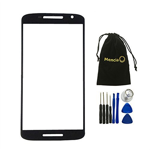 Mencia Black Screen Panel Glass Lens For Motorola Moto X Play XT1563 XT1562 XT1561 With Tools
