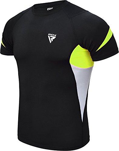 RDX MMA Rashguard Funktionswäsche Sweatshirt Kompressionsshirt Kampfsport UFC Base Layer Kurzen Arm