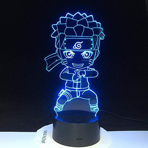 Whirlpool Naruto Boy 3D Farbwechsel Lampe Kind Schlafzimmer Dekoration Baby Kung Fu Naruto LED Nachtlicht Geschenk 3289
