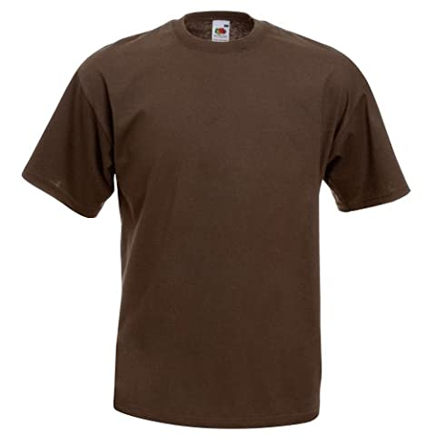 Fruit Of The Loom Mens Valueweight Short Sleeve T-Shirt (M) (Chocolate)