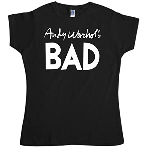 Refugeek Tees - Femmes Andy Warhols Bad T Shirt - Medium (10-12) - Black