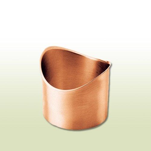 Kupfer Lötstutzen halbrund für RG 333 & Fallrohr DN 100