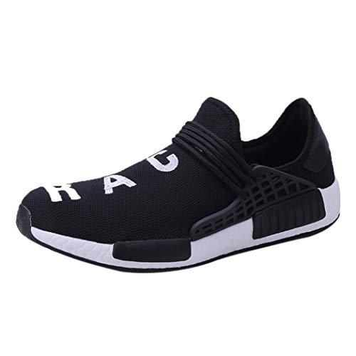 WWricotta LuckyGirls Zapatillas de Correr Hombre Mujer Par Estampado Patchwork Casual Cómodas Calzado para Deporte Zapatos para Andar con Cordones Bambas de Gimnasia Running Deportivas Mocasines