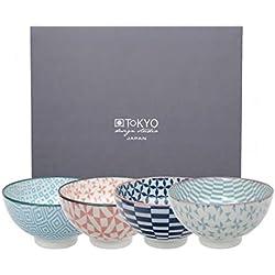 Tokyo Design Studio, Geometric Eclectic, 4 Schalen Set , 4-tlg., Ø 12,0 cm, Porzellan aus Japan