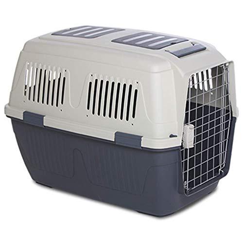 LTM Pet carrier LT Scatola da Trasporto for Animali Domestici con Supporto for Ruote Extra Large for Trasporto Cane Gatto Fuori stuoia di Sicurezza con Serratura for Viaggio (Color : Gray, Size : M)