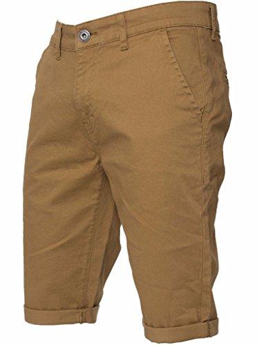Enzo Brand New Mens Slim Fit Stretch Cotton Chino Summer Shorts Black Blue Red Grey