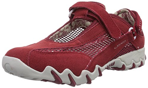 Allrounder by Mephisto NIRO C.SUEDE 48/OPEN MESH 48 RED/RED, Scarpe sportive outdoor donna, Rosso (Rot (RED/RED)), 41,5