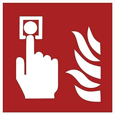 10 Brandmelder Aufkleber Brandmelder (10 Stück) vorgestanzt, selbstklebend, Brandmelder Schild überkleben, Sicherheitskennzeichen - Brandmelder Zubehör - Warnzeichen-Brandmelder / Brandmelder-Brandschutzzeichen Aufkleber F005