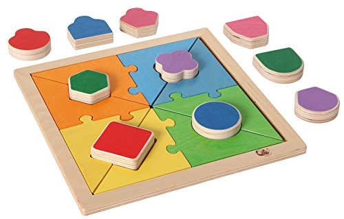 Bartl 111321 Formen-Puzzle Legespiel aus Holz. Ein einfaches und doch geniales Legepuzzle für unsere Kleinsten.