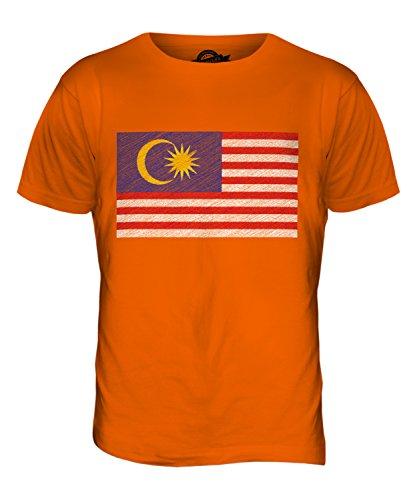 CandyMix Malaysia Kritzelte Flagge Herren T Shirt Orange