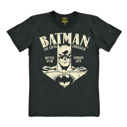 Batman T-Shirt - Portrait - Comic T-Shirt - schwarz - Original Marke TRAKTOR®, Größe M