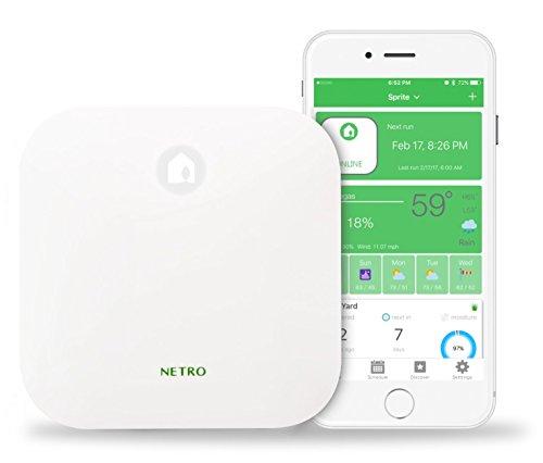 Netro Aspersor Inteligente regulador, WiFi, Tiempo Consciente, Remote Access, 6 Zona, sin Adaptador de Corriente