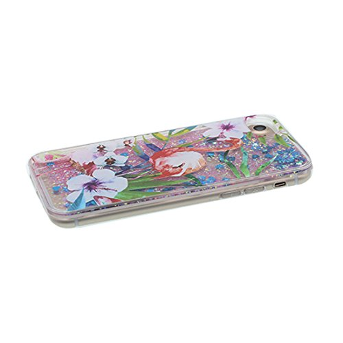 "Hülle iPhone 6, Liquid Fließendes Glitzer Bling Bling Floating sparkles (Einhorn unicorn), iPhone 6S Handyhülle Cover (4.7 zoll), iPhone 6 Case Shell (4.7"") Anti-Beulen & Ring Ständer # 1"