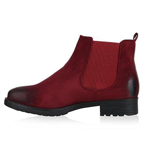 Modische Damen Stiefeletten | Chelsea Boots Prints | Schuhe Bequem | Übergrößen  Gr. 36- ...