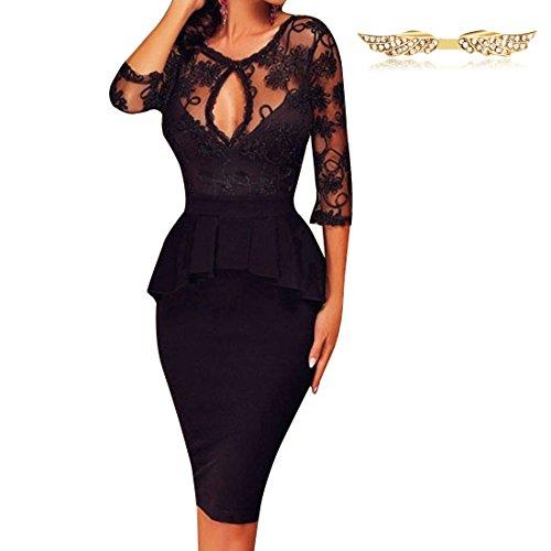 byd-mujeres-vestidos-de-encaje-escotado-por-detras-manga-1-2-ajustado-vestido-de-coctel