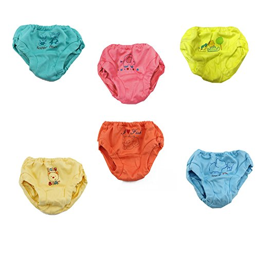 Kid's Care Baby Boy's and Girl's Cotton Bloomer (Multicolour, 3-6 Months, PMP004-16) - Set of 6