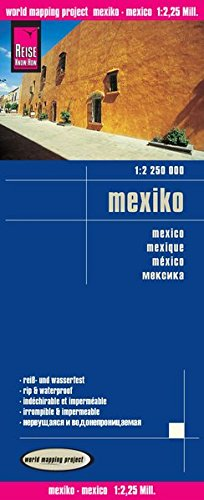 Reise Know-How Landkarte Mexiko (1:2.250.000): world mapping project